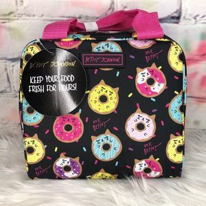 Betsey Johnson Kitty Donut Insulated Lunch Tote
